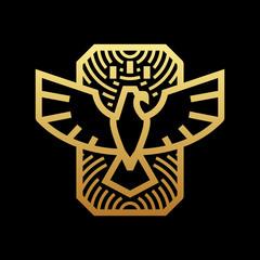 bird logo with monoline style