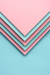 Pink and blue paper design