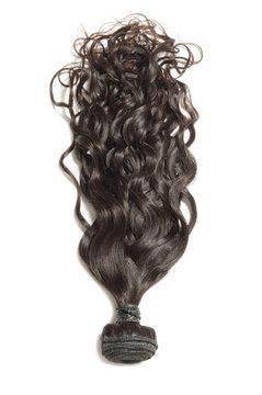 Loose wavy black human hair weaves extensions bundle