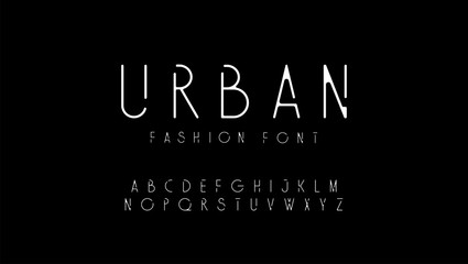 urban fashion modern alphabet. designs for logo, Poster, Invitation, etc. Typography font uppercase. vector illustrator Wall mural