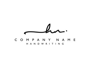 H N Initial handwriting logo