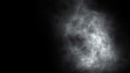 Dry ice smoke clouds fog background of fractal noise effect illustration.