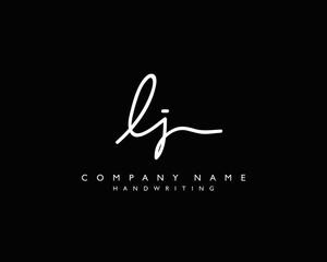L J Initial handwriting logo