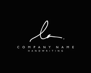 L A Initial handwriting logo