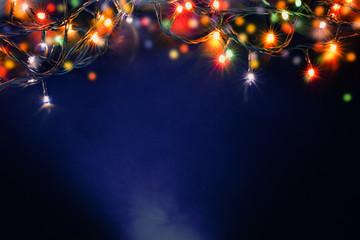 colorful christmas lights Wall mural