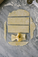 Shaping Angel Wings Pastries