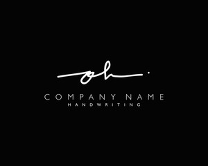 O H Initial handwriting logo