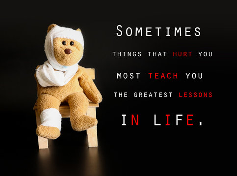 Inspirational quote on the picture ,