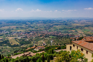 Tuscan landscape near Cortona, Italy