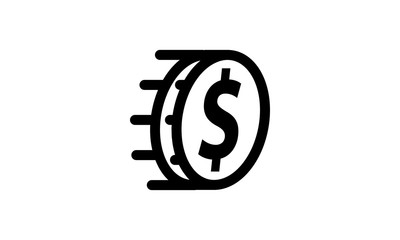 Money Template Icon Isolated
