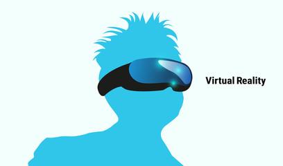VR体験バーチャルリアリティ仮想現実イメージイラスト