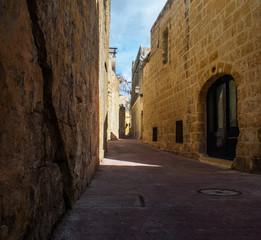 Narrow Street in Siggiewi, Malta