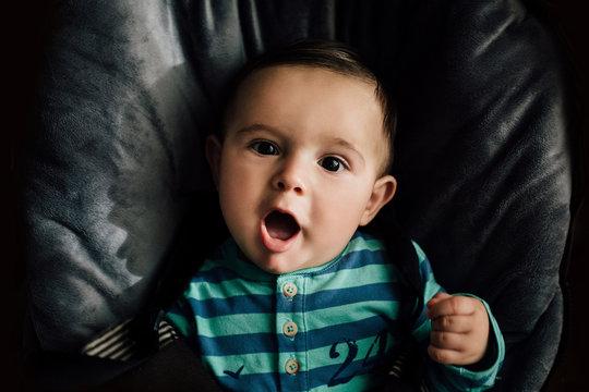 Adorable baby smiling at camera