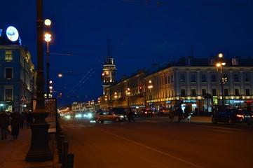 St. Petersburg by night