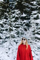 Woman Enjoying Winter Vacation