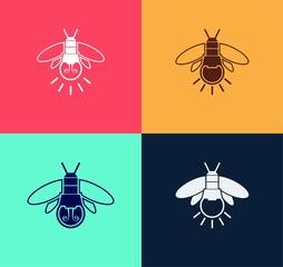 Fireflies Icon Set