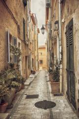 Street in San Tropez, Cote dAzur