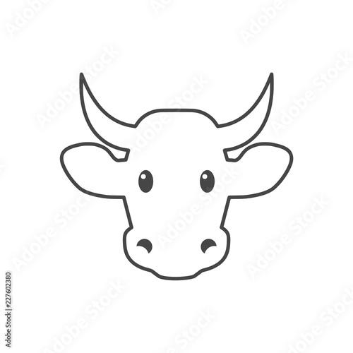 Cow icon, Cow head icon, Cow logo