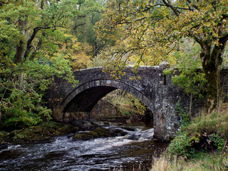 old stone bridge over the river