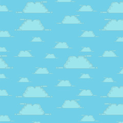 pattern seamless sky cloud blue background
