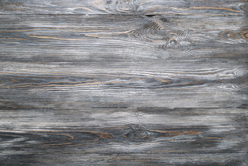 Texture of old wooden planks table. Rustic or shabby style. Gray wood background.