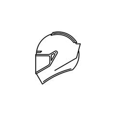 Sport helmet icon.