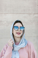 hipster muslim woman portrait