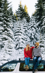 Couple on Winter Vacation