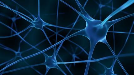 3d Render inactive brain cells