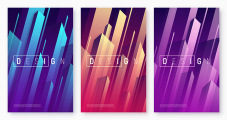 Vector abstract dynamic geometric backgrounds, colorful minimal