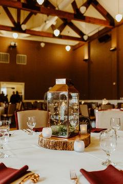 Reception Table Decor at Wedding