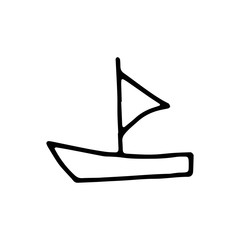 ship icon. sketch isolated object