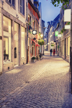 evening in  historical center of Maastricht