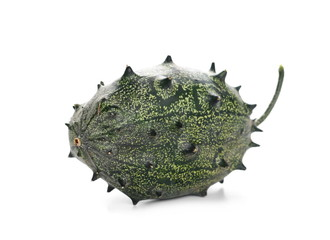 horned melon isolated on white background