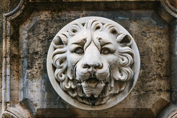 Crowned Lion Head under an Italian Window