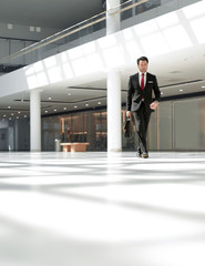 businessman out of the office building