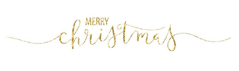 MERRY CHRISTMAS brush calligraphy banner