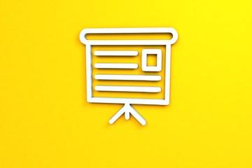 light blue color Illustration of Presentation on yellow background