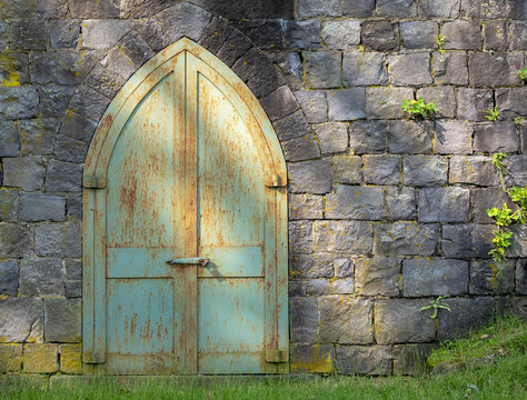 door, old, architecture, wood, stone, wall, church, entrance, ancient, doorway, gate, building, arch, castle, antique, house, medieval, doors, closed, brick, vintage, entry, rust, crypt, dappled light