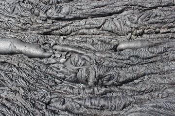 Frozen volcanic lava