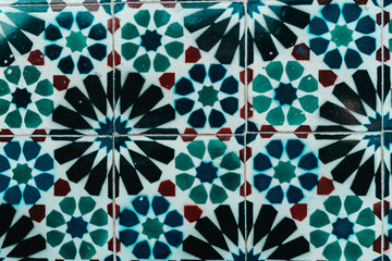 arabian spanish ceramic wall decaration abstract background
