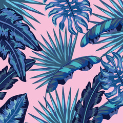 natural leaves tropical plants background