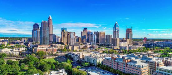 Charlotte, North Carolina, USA Skyline Aerial Wall mural