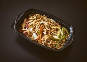 Chicken Noodle On A Plastic Pot