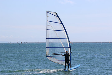 Windsurfer in Portland harbour