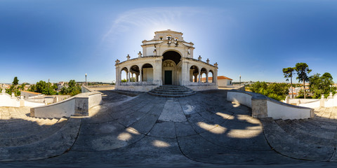 360 Panoramic View of Nossa Senhora da Encarnação Church in Leiria, Portugal