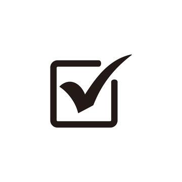 Check mark icon symbol