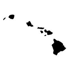 Hawaii - map state of USA