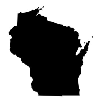 Wisconsin - map state of USA