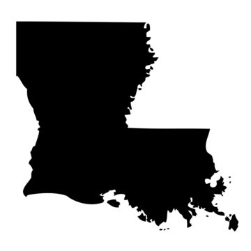 Louisiana - map state of USA